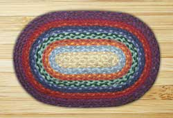 Rainbow Braided Tablemat (10 x 15 inch)