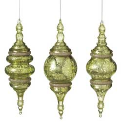 Speckled Finial Ornament - Green