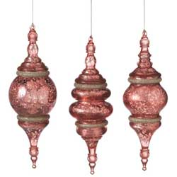 Speckled Finial Ornament - Pink
