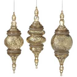 Speckled Finial Ornament - Gold