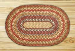 Honey, Vanilla & Ginger Oval Jute Rugs, Oval (Special Order Sizes)