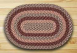 Peach Blossom Braided Rug, Oval - 20 x 30 inch