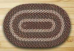 Tan Braided Rug, Oval - 27 x 45 inch