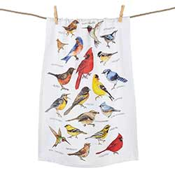 Field Guide Birds Printed Flour Sack Towel