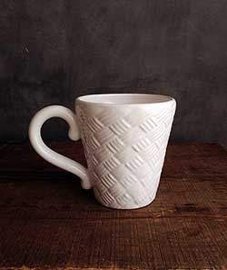 White Basketweave Mug