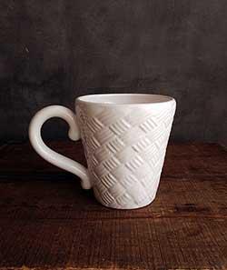 White Basketweave Mug