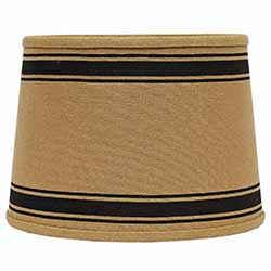 Bella Trace Black Stripe Lamp Shade - 10 inch Drum