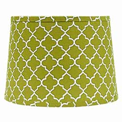 Lime Quatrefoil Drum Lamp Shade - 10 inch