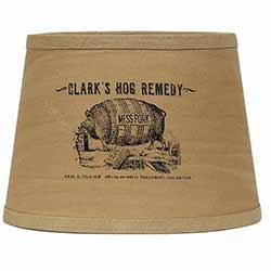 Clark's Hog Remedy Lamp Shade - 10 inch Drum