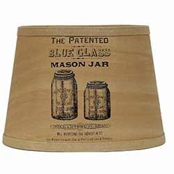 Mason Jar Lamp Shade - 10 inch Drum