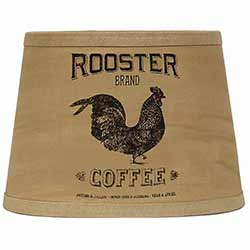 Rooster Brand Coffee Lamp Shade - 10 inch Drum