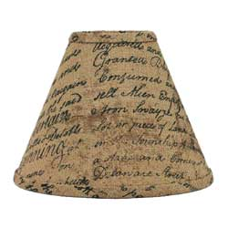 This Indentured Burlap Lamp Shade - 12 inch
