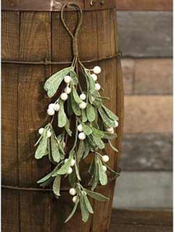 Iced Mistletoe Floral Swag