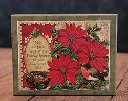 Poinsettia & Holly Boxed Christmas Cards