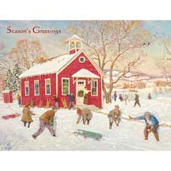Country School Boxed Christmas Cards