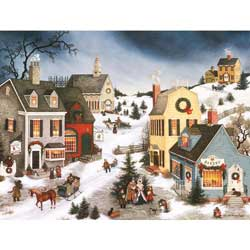 Caroling in the Village Boxed Christmas Cards