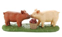 Piglets & Apple Bushel