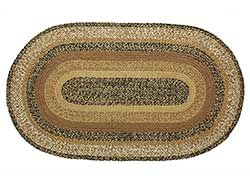 Kettle Grove Black Tan Braided Rug - Oval (24 x 36 inch)