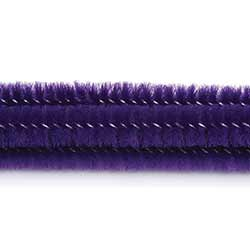 Purple Chenille Stems, 6 mm (25 pack)