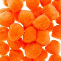 1 inch Pom Poms in Orange (40 pack)