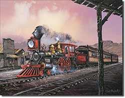Old Steam Train Tin Sign