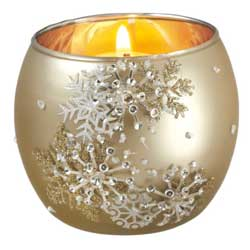 Snowflake Patterned Votive