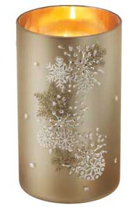Snowflake Patterned Pillar Holder