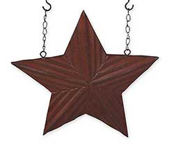 Burgundy Carved Star Arrow Replacement