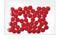 Red Pom Poms, 5mm (100 pack)