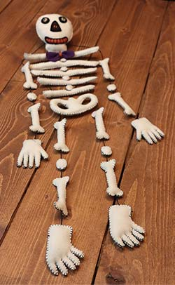 Skeleton Bones Mobile Doll