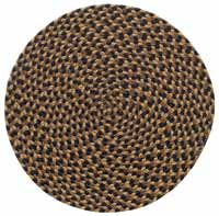 Black, Brown, Tan Braided Placemat