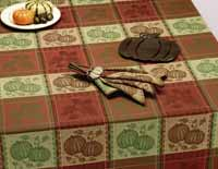 Design Imports (DII) Bountiful Harvest Jacquard Tablecloth, 52 x 52
