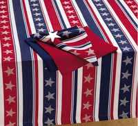 Design Imports (DII) Stars & Stripes Tablecloth, 52 x 52