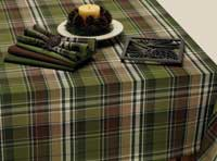 Design Imports (DII) Pine Tree Plaid Tablecloth, 52 x 52