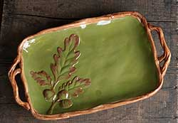 Green Oak Leaf Platter