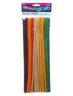 Fall Colored Chenille Stems (100 pack)