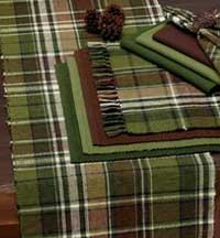 Design Imports (DII) Pine Tree Plaid Tablerunner