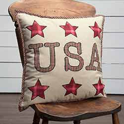 Liberty Stars USA Applique Throw Pillow (18 inch)