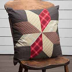 Liberty Stars Patchwork Throw Pillow (18 inch)