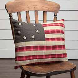 Liberty Stars Flag Throw Pillow (14 x 18 inch)