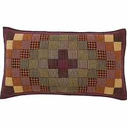 Heritage Farms Primitive Check Quilted Sham King