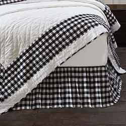 Annie Buffalo Black Check King Bed Skirt
