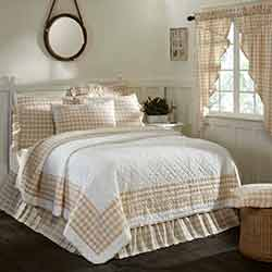 VHC Brands Annie Buffalo Tan Check King Quilt
