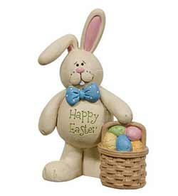 Happy Easter Bunny with Egg Basket