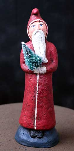 Santa with Bottlebrush Tree (Limited Edition)