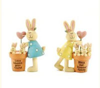 Love Blooms Bunnies (Set of 2)