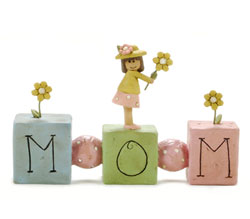 Girl with Flower on Mom Beads