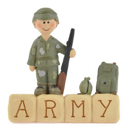 Army Block with Boy