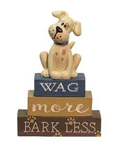 Wag More Bark Less Shelf Sitter