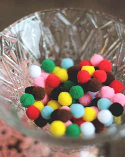 Multicolor Pom Poms, 7mm (100 pack)